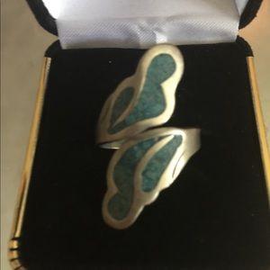 Vintage Turquoise Adjustable Ring